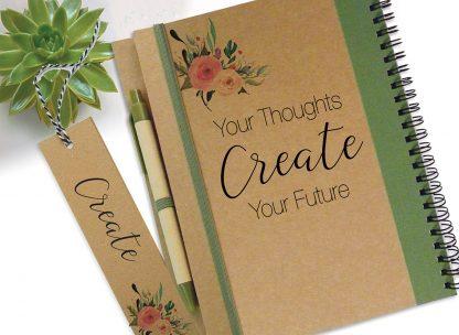 """מחברת מטרות אישית - """"Your Thoughts Create Your Future״"""