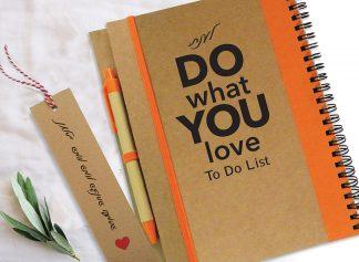 מחברת מתנה אישית ומקורית עם מסר - Do What You Love