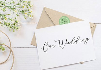 מדבקות ממותגות עגולות, מתאים למיתוג חתונות