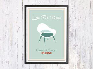 Lets Sit Down - תמונת רטרו, להדפסה עצמית