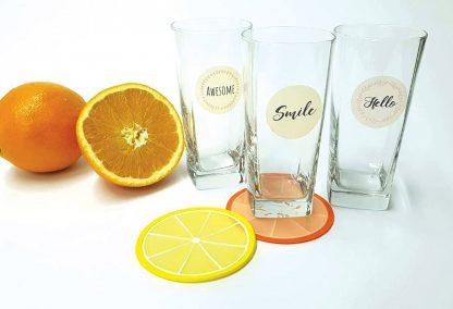 מדבקות שקופות להדבקה על כוסות, מיתוג כוסות למסיבות, מדבקות אישיות