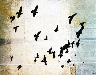 ״ציפורים נודדות״ - הדפס אמנות איכותי על קנבס