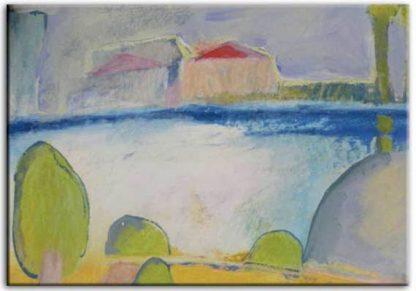 ״נוף מההר לים״ - תמונה מודפסת על קנבס, טכניקה מעורבת