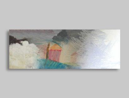 ״נוף אפור״ - תמונת אמנות מקורית, הדפס איכותי על קנבס