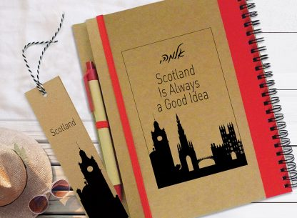 מחברת מסע מעוצבת אישית, יומן מסע - סקוטלנד