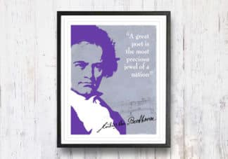 בטהובן - ציטוט, תמונה לבית, מתנה מקורית, תמונה להדפסה עצמית