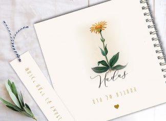 מחברת בוטנית בתוספת פרחים צבעונית