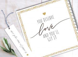 "Valentine's Day מחברת ""אהבה"" מעוצבת אישית"