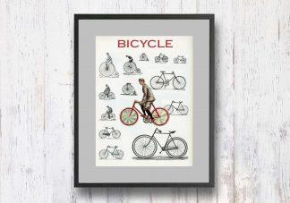 תמונת וינטאג׳ - Bicycle, אופניים, סדרת רטרו, הום סטיילינג, תמונה לבית, הדפס איכותי על נייר, רעיון למתנה