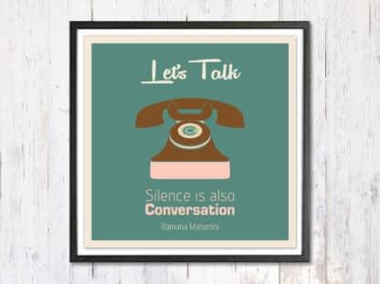 Lets Talk - תמונת רטרו, להדפסה עצמית