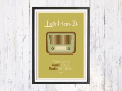 Lets Hear It - תמונת רטרו, להדפסה עצמית