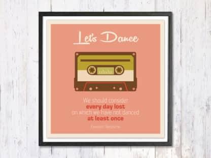 Lets Dance - תמונת רטרו, להדפסה עצמית