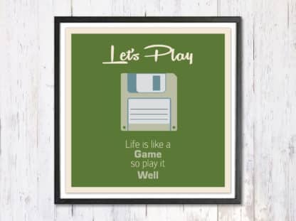 Lets Play - תמונת רטרו, להדפסה עצמית