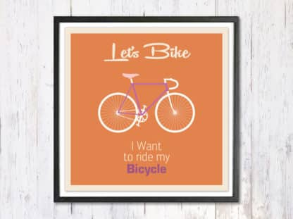 Lets Bike - תמונת רטרו, להדפסה עצמית
