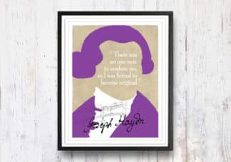 היידן – תמונה לבית, ציטוט מוסיקלי, מתנה מקורית, תמונה להדפסה עצמית