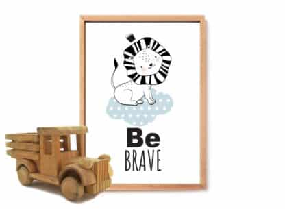 פוסטר לחדר ילדים, Be Brave