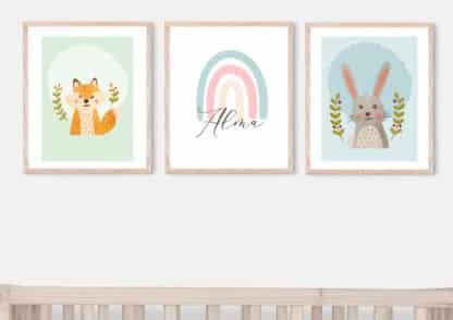עלמה, הארנב שלי. תמונות לחדר ילדים