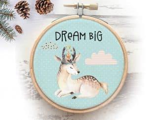 חישוק בד לחדר הילדים DREAM BIG