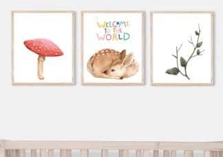 שלישיית תמונות לחדרי ילדים