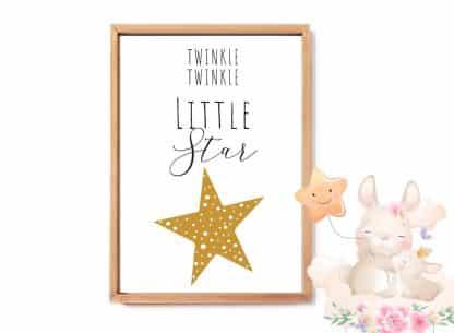 הדפס לחדר ילדים,Little Star